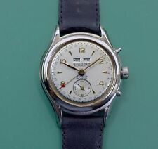 Vintage 40s BUCHERER Switzerland's Tiffany Triple Calendar Bumper Auto Watch