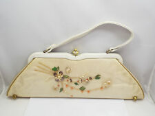 Vintage Mid Century Florida Handbags of Miami Floral Shell Design in Plastic