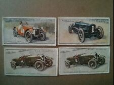 "#JOHN PLAYER & SONS CIGARETTE CARDS: Lot of 4 Cars 26, 26, 28, 30  1.5"" x 2.75"