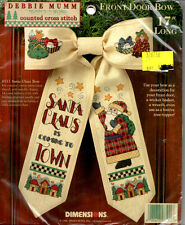 Dimesions Counted Cross Stitch Front Door Bow Debbie Mumm 25