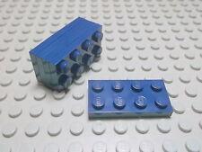Lego 5 Platten 2x4 dunkelblau navyblau 3020 Set 7469 75013 10187 10243