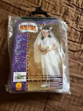 Bride Princess White Wedding  Dress Child Girls Halloween size small 3 to 4