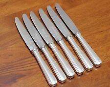 SET OF 6 Christofle BOREAL Silver-plated Dessert Salad Knives 8 1/8 in Art Deco