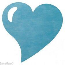 Set da tavolo cuore non tessuto turchese (lotto di 50)