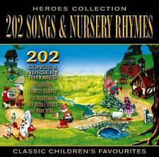 202 SONGS + NURSERY RHYMES NEW CD 101 Children's Nursery Rhymes & Songs VOL 1+ 2