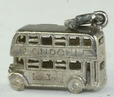 VTG NUVO STERLING SILVER LONDON DOUBLE DECKER BUS CHARM