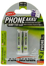 4 Stück Ansmann DECT Micro AAA Akku 550mAh geeignet für Telefone / Telefonakkus
