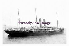 pu0921 - P&O Liner - Nile , built 1906 , wrecked 1915 Japan - photograph