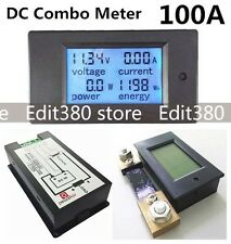 100A DC Digital Power Panel Meter Monitor Power Energy Voltmeter Ammeter + Shunt