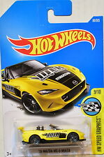 HOT WHEELS 2017 HW SPEED GRAPHICS '15 MAZDA MX-5 MIATA #9/10 YELLOW
