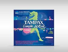 TAMPAX COMPAK ACTIVE TAMPONS 20 SUPER