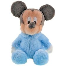 Disney Parks Plush Baby Plush Mickey Mouse Rattle Blue Fuzzy Stuffed Plushie
