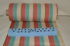 Deckchair Fabric Canvas Cotton Pastel Stripe 1.5M & Upholstery Nails