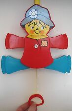 Vintage 1978 Fisher-Price Interactive Scarecrow Crib Toy 423 Quaker Oats Co.