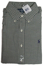 Polo Ralph Lauren Mens Pony Logo Custom Slim Gingham Oxford Sport Dress Shirt