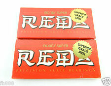2 set ( 16 pcs) Bones Super Reds Skateboard 608 Roller Skate Bearings 8mm
