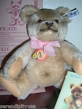 STEIFF JACKIE BEAR in BOX! 1953 0190/25, Certificate TAGS BUTTON GREAT CONDITION
