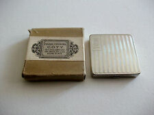 VINTAGE COTY SQUARE POWDER COMPACT WITH BOX COSMETICS VANITY MADE IN FRANCE