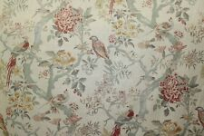 4 Drapes Arielle Woodland Bird Toile in English Tradition Matching Bedding Avai