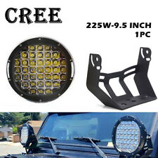 "9"" 225W CREE LED Round Work Light Spot Driving Head Light offroad ATV Truck Lamp"