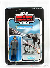 Vintage Star Wars ESB Carded 48 Back-A At-At Commander Action Figure AFA 80 NM #