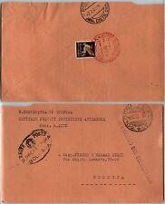 RSI-TASSA A CARICO DEL DESTINATARIO-50c(PA11)-Busta Bologna 7.6.1945