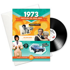 1973 43rd Birthday or Anniversary Gift -1973 4-In-1 Card,Book,CD and Download