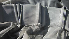 Classy voile/net triple pleated pair of curtains each 120cm top width 150cm drop