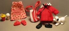 Barbie KELLY Doll Clothes-STRAWBERRY DRESS for Stove Dalmation Dog Coat movie