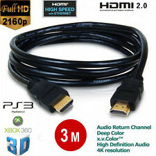 3m HDMI Male to HDMI Male PC/LAPTOP/SKY/XBOX 360/HDTV Gold Plated Ver1.4 Cable