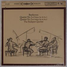 BEETHOVEN: Budapest Quartet COLUMBIA Stereo MS 6074 NM Vinyl LP