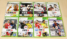 8 xbox 360 jeux collection FIFA 06 07 08 09 10 11 12 13 de foot football soccer