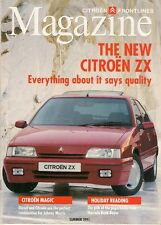 Citroen Frontlines Magazine Summer 1991 UK Market Brochure ZX BX XM Light 15
