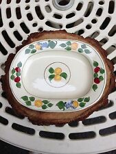 Pair of Adams Royal Ivory Titian Ware Fruit Pattern Plates Dishes Small Platters
