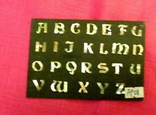 Abalone inlay letters, alphabet, priced per letter, your choice.