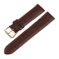 News 8 Sizes Width Genuine Leather Watch Band Solid Strap Men Women Watchband