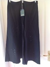 Hobbs Embellished Linen 'Consuela' Skirt -Black -Size 12 - New with Tags was £89