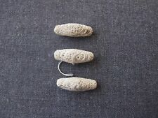 3 ANTIQUE VICTORIAN IRISH CROCHET BEADS BUTTONS  APPLIQUES UNUSED  # N