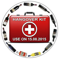 Personalised Hen Stag Do Night Hangover Kit Stickers Wedding Party Label Seals