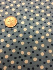 100% Cotton quilting craft Fabric Blue White Spots Benartex kayes kitchen