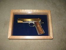 NEW CUSTOM WOOD PISTOL GUN CASE - COLT 1911, PYTHON and most other  makes