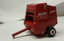 1/64 custom ertl farm toy agco white new idea round baler red paint scheme
