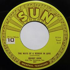 JOHNNY CASH: THE WAYS of A WOMAN IN LOVE ~ SUN ROCKABILLY 45 super VG++ HEAR!