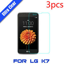 """3x High Clear LCD Touch Screen Cover HD Protective Film Guard For 5.0"""" LG K7"""