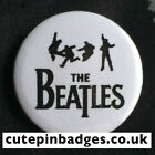"The Beatles Silhouettes Badge (25mm/1"") Pin Button John Lennon Paul McCartney"