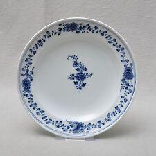 Meissen Marcolini Teller mit Blumenranken, kobaltblaue Unterglasurmalerei
