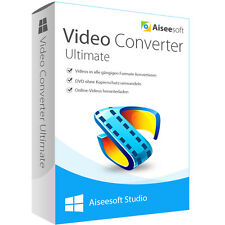 Video Converter Ultimate 9 WIN Aiseesoft dt.Vollver Lebenslange Lizenz Download