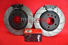 REAR PERFORMANCE DRILLED GROOVED BRAKE DISCS + PADS KIT BMW E46 330i 330d 330Ci