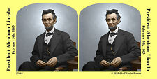 President Abraham Lincoln Civil War SV Stereoview Stereocard 3D 19469