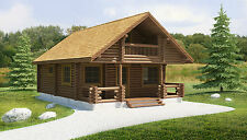 Award Winning 2 Bed/2 Storey Log Cabin - Self Build, Partial Build or Turnkey